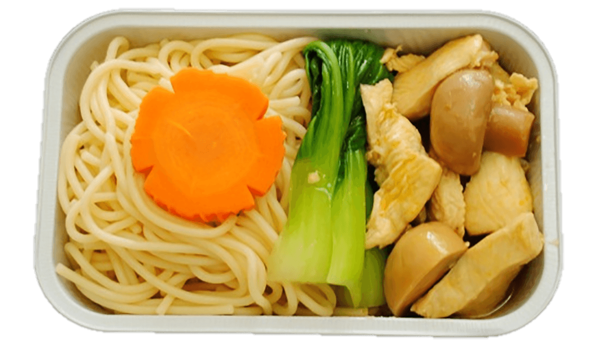 Noodle with chicken and vegetable